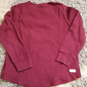 Gap waffle knit long sleeve top
